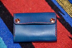 BLUE.art(ブルードットアート)Sliding coin catcher wallet 藍染 (INDIGO) Leather ba-087