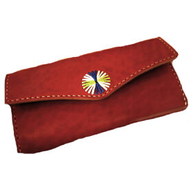 Hava Leather Art (ハバ レザーアート) WALLET -WL-SQ-EMB- [Saddle leather:RedBrown] hav-024
