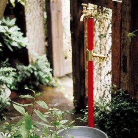 【送料無料】レトロな立水栓 「クラシック立水栓 双口 (ブラス蛇口2個付き)」昔の形を今に再現 古くて懐かしいレトロモダンの美しい水栓柱です。水栓柱 タップ クラシック アンティーク 和風 ガーデン ガーデニング 庭 水洗 水道 ガーデンタップ 輸入住宅