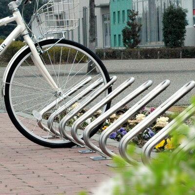 一際シンプルな駐輪スタンド!玄関アプローチや駐車場脇にも おしゃれな自転車置き場「自転車スタンド D-NA ディーナ CLIP 1台用」【沖縄・離島以外 送料無料】| 駐輪スタンド 屋外 自転車ラック 自転車止め おしゃれ 自転車置き サイクルスタンド サイクルラック