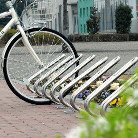 一際シンプルな駐輪スタンド!玄関アプローチや駐車場脇にも おしゃれな自転車置き場 「自転車スタンド D-NA ディーナ CLIP 1台用」 【沖縄・離島以外 送料無料】| 駐輪スタンド 屋外 自転車ラック 自転車止め おしゃれ 自転車置き サイクルスタンド サイクルラック