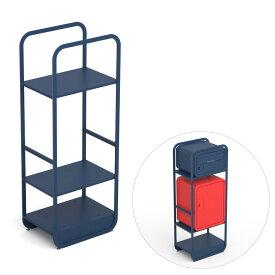 宅配ボックスが複数個おけるスタンド「ナスタ(NASTA) スマポ 専用ラック 単品 置き型」