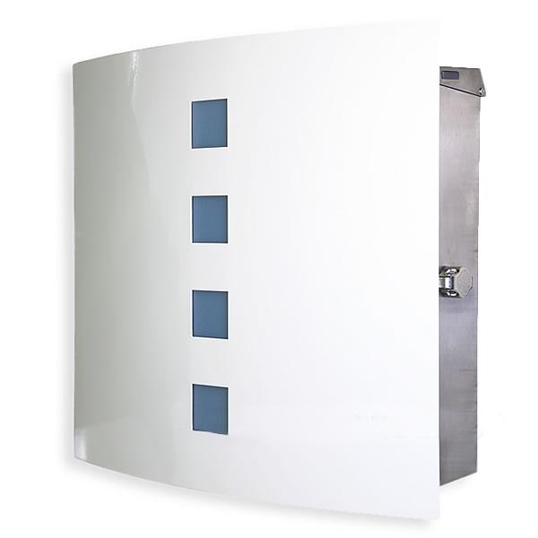 【ポスト 壁付け】壁掛け 「マックスノブロック Cherbourg:シェルブール 壁掛け」 ペールブルーの小窓が女性に人気です。【郵便受け】【郵便ポスト】【POST】【送料無料】| おしゃれ エクステリア メールボックス メール ボックス 屋外 玄関