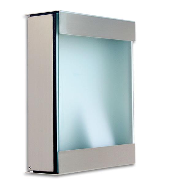 ポスト 郵便ポスト「カイルバッハ glasnost.glas.360 グラスノストグラス W360」【送料無料】 ドイツ製|エクステリア エクステリアポスト ガラス ステンレス モダン グラスノスト おしゃれな 玄関 郵便受け箱 メールボックス 郵便受け