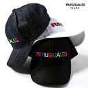1PIU1UGUALE3 RELAX ウノピゥウノウグァーレトレ リラックス カラフル ロゴ 刺繍 キャップ 帽子