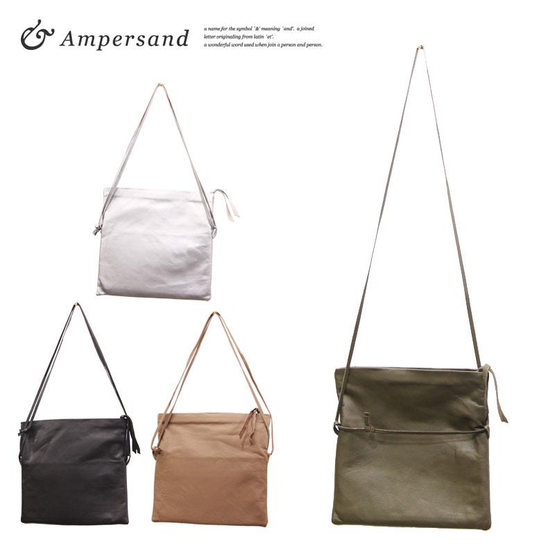 【あす楽がいつでも送料無料】 Ampersand アンパサンド ソフトレザー 2way クラッチ&ショルダーバッグ
