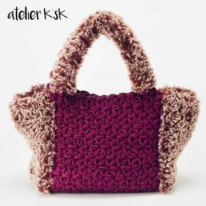 AtelierK'sKアトリエK'sK岡本啓子リフ編みトートバッグかぎ針編み棒針編み手編みキットトートバッグ鞄