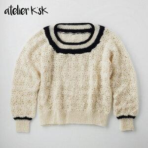 Atelier K'sK アトリエ K'sK 岡本啓子 モチーフつなぎの丸首プルオーバー 棒針編み 手編みキット
