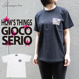 Gioco serio ジョーコセーリオ HOWS THINGS プリント 半袖 Tシャツ S M L LL レディース