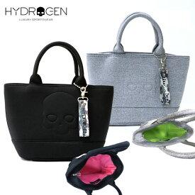 HYDROGEN ハイドロゲン 2020ss新作 スカル スウェット ファスナー ミニトートバッグ 日本限定 メンズ レディース ブランド 黒 グレー