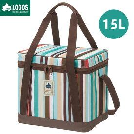 LOGOS ロゴス アウトドア デザインクーラー 15L ブルーストライプ クーラーボックス 保冷 ランチバッグ お弁当袋 バッグ 手提げ
