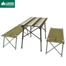 LOGOS ロゴス アウトドア オートレッグ ベンチ テーブルセット 4人用 ヴィンテージ