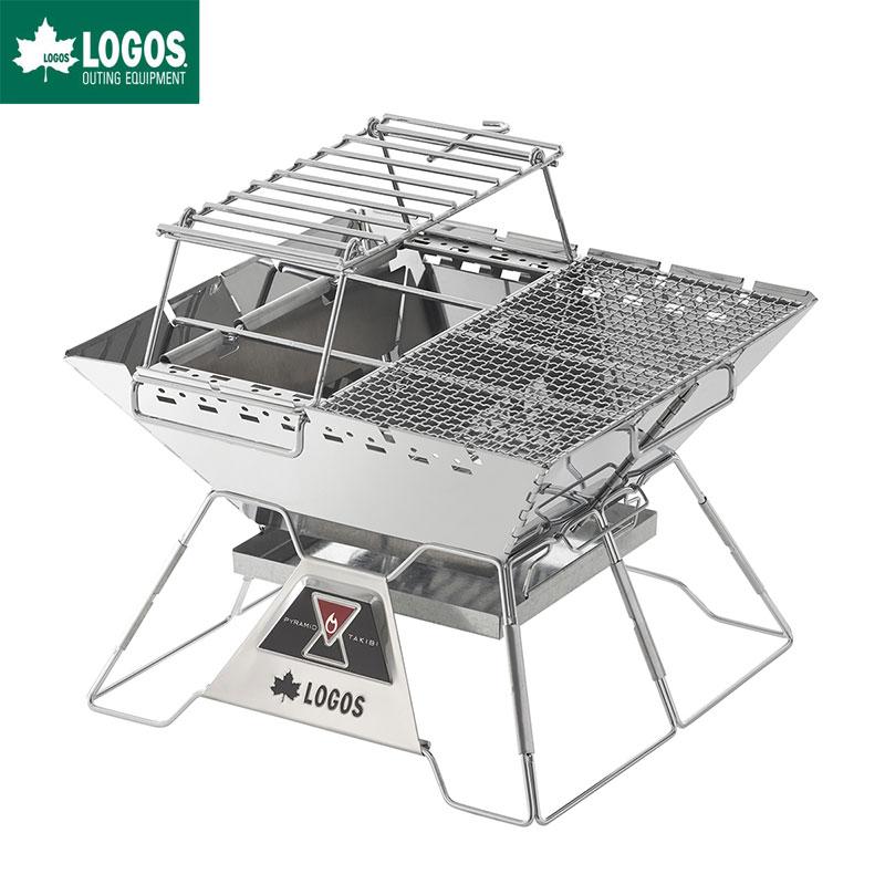 LOGOS ロゴス 焚き火台 バーベキューグリル LOGOS the ピラミッドTAKIBI L コンプリート セット