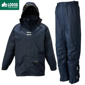 LOGOS ロゴス レインウェア 上下セット リュック 対応 バックパックレインスーツ ネイビー LL