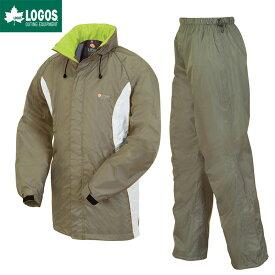 LOGOS ロゴス レインウェア 上下セット 透湿 レインスーツ ボルダー カーキ L