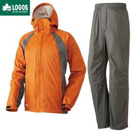 LOGOS ロゴス レインウェア 上下セット 透湿 2.5レイヤーレインスーツ ノーマン オレンジ M