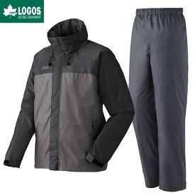 LOGOS ロゴス レインウェア 上下セット LVS 透湿レインスーツ チェスター チャコール 3L