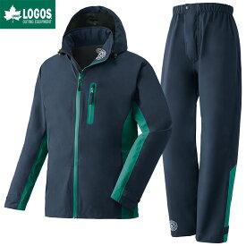 LOGOS ロゴス レインウェア 上下セット ストレッチ レインスーツ トリガー ネイビー L