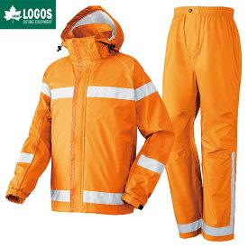 LOGOS ロゴス レインウェア 上下セット 難燃 レインスーツ スタンツ マンゴーイエロー L