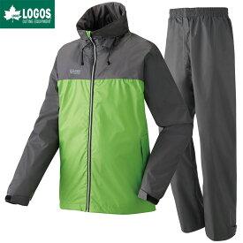 LOGOS ロゴス レインウェア 上下セット OVS レインスーツ ピート ライトグリーン M
