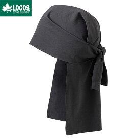 LOGOS ロゴス COOLSKIN UV Tラップ ブラック 黒 冷感 夏 ブランド 日よけ 頭