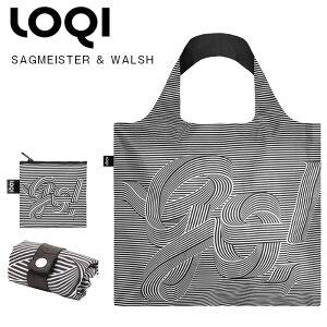 LOQIローキーsagmeister&walshエコバッグ折りたたみコンパクト