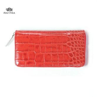 PAVITRA 파비트라 PINO 피노그로스롱워렛트렛드크로코형 밀기장 지갑