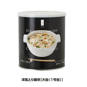 25年保存 非常食 サバイバルフーズ 洋風とり雑炊 大缶 1号缶/10食相当 ごはん ご飯 1缶 単品 保存缶