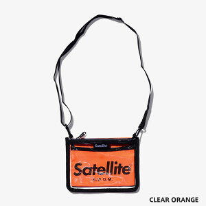 SatelliteサテライトCLEARサコッシュバッグショルダーバッグポーチ鞄メンズレディース透明クリア