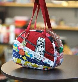 《新シリーズ》【Seori Bag 】JuJuオリジナル【福呂姫のBag(花冠のふくろう)】ミニボストンバッグ/オリジナルバッグ希少可愛いコットンバッグ