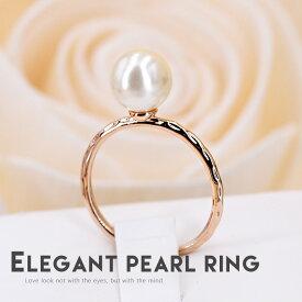 リング 指輪 レディース ギフト おしゃれ 上品 人気 カワイイ シンプル 知的 パール 記念日 自分へのご褒美 結婚式 パーティー カジュアル 大人可愛い 女性 ジュエリー アクセサリー ジュジュルナ jujuluna