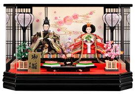 【25日限定楽天カード決済でP10倍】 雛人形 ひな人形 ケース飾り ケース コンパクト 小さい かわいい 親王ケース飾り 桜流水バック アクリルパノラマケース おしゃれ