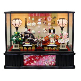 雛人形 ひな人形 ケース飾り ケース かわいい 寿慶 凛 つるし付黒ケース 雅なこころ おしゃれ