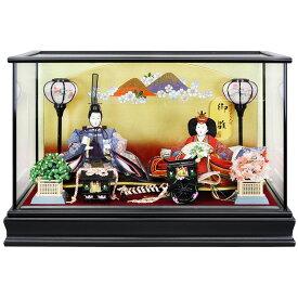 雛人形 ひな人形 ケース飾り ケース コンパクト 小さい かわいい 寿慶 黒塗ケース おしゃれ