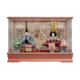 【年内限定!購入特典吊るし飾りプレゼント】雛人形 ひな人形 ケース飾り小さい かわいい 送料無料寿慶 アクリルパノラマケース 梅花柄