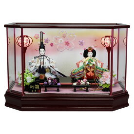 雛人形 ひな人形 ケース飾り ケース 寿慶 六角ワインケース 舞桜 おしゃれ