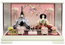 雛人形 ひな人形 親王ケース飾り ケース ホワイト塗ガラスケース 刺繍バック おしゃれ