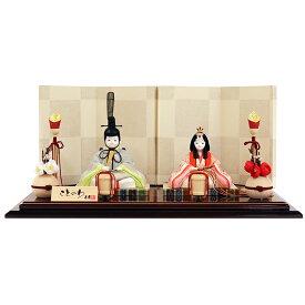 雛人形 かわいい コンパクト おしゃれ 真多呂×寿慶 人形のこどもや本店オリジナル ことのわ 木目込み親王飾り 金彩 小 KW-321002H