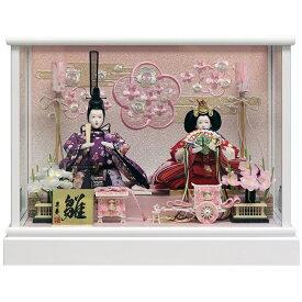 雛人形 ひな人形 雛 ケース飾り コンパクト 親王ケース飾り ホワイト塗り 刺繍バック コンパクト おしゃれ