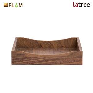 PLAM Latree レタートレイ ウォルナット PL1DEN-0010340-WNOL スタッキング可能 小さな無垢の木 幸せインテリア 飛騨家具 プラム ラトレ 木製 レターケース ナチュラル 北欧 文箱 ギフト 入学祝 敬老