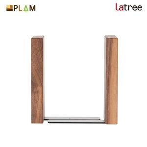 PLAM Latree ブックエンド2 ウォルナット PL1FUN-0090180-WNOL 小さな無垢の木 幸せインテリア 飛騨家具 プラム ラトレ ブックエンド おしゃれ 木製 アンティーク 本立て ブックスタンド ナチュラル