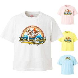 *アメカジ風レインボーハワイアンプリント* ハワイアンプリント半袖Tシャツ キッズ100・110・120・130・140サイズ【tk038】