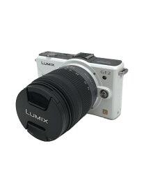 【中古】Panasonic◆デジタル一眼カメラ LUMIX DMC-GF2W-W ダブルレンズキット [シェルホワイト]【カメラ】