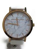 【中古】christian paul/クォーツ腕時計/アナログ/レザー/WHT【服飾雑貨他】