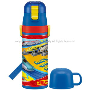 SKDC4 超軽量 2way ステンレスボトル プラレール 2020年版 子供 キッズ ダイレクト 直飲み水筒 コップ付き水筒 コップ飲み 保温 保冷 キャラクター 男の子 小学生 男児 2way水筒 スケーター SKATER 47
