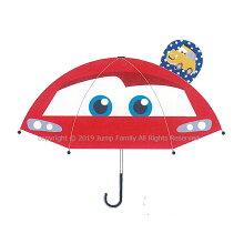 傘カーズ耳付き子供キャラクター男の子男児キッズ子供かさカサキャラクターかさキャラクターレイングッズ雨具47cm透明ディズニーピクサー