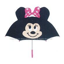 傘ミニー耳付き子供キャラクター女の子女児キッズ子供かさカサキャラクターかさキャラクターレイングッズ雨具47cm透明ディズニー