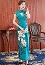 二点送料 春秋ロング丈チャイナドレス サテン素材大人穏やかなチャイナドレス 古典漢服古代衣装 ママ用ドレス 中…
