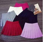 二点送料無料!学院風レディースプリーツテニススカート制服可愛いスカート豊富なレトロ感プリーツミニスカートキュロットレディース全9色4サイズ