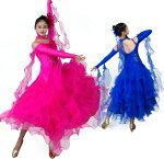 6色高級モダンドレス二枚送料無料スパンコールキラキラ社交ダンスドレスラテンワルツ衣装ソシアルダンスドレスパーティーイベント演出ドレス発表会舞台服競技着